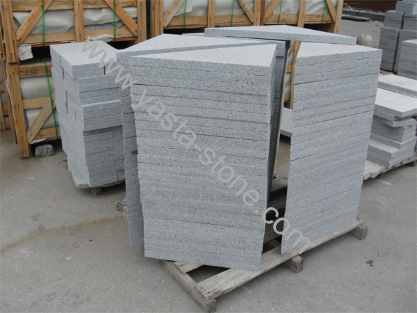 Granite Paving Stone Triangle Shape Paving Stone Flamed