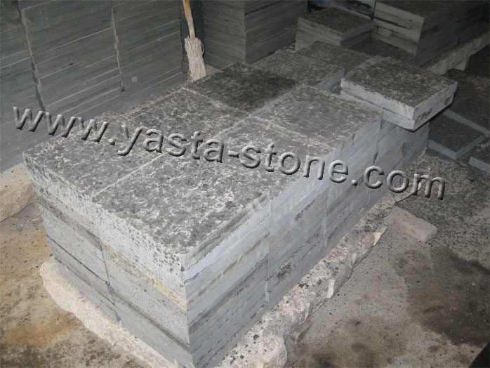 Basalt pavers china black basalt zhangpu black flamed tiles for Basalt pavers