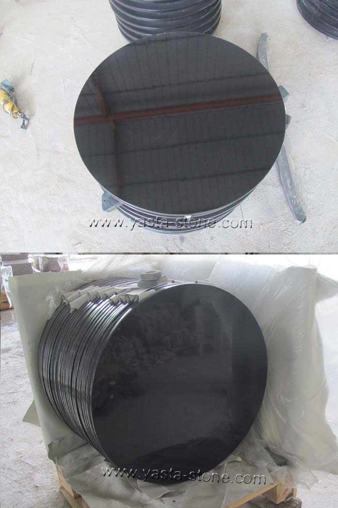 30 Inches Round Absolute Black Granite Table Tops Shanxi