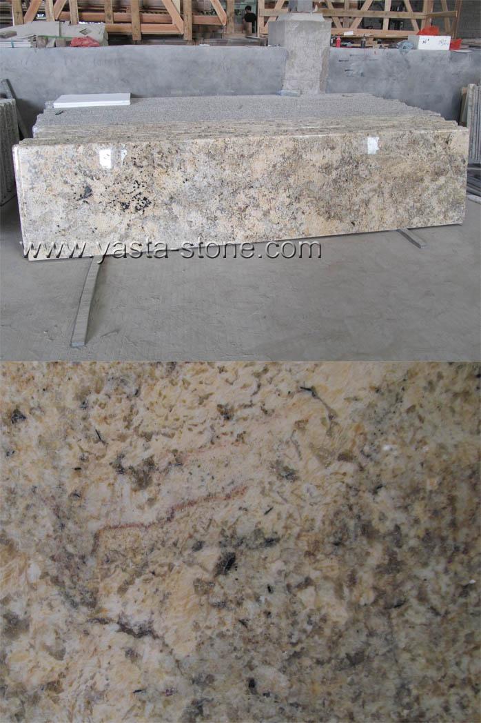 Yellow Granite Stone : Forest yellow countertops china laminated