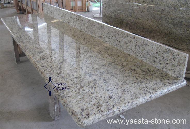 Wooden mushroom chair - Giallo Ornamental Granite Countertops Kitchen Countertops