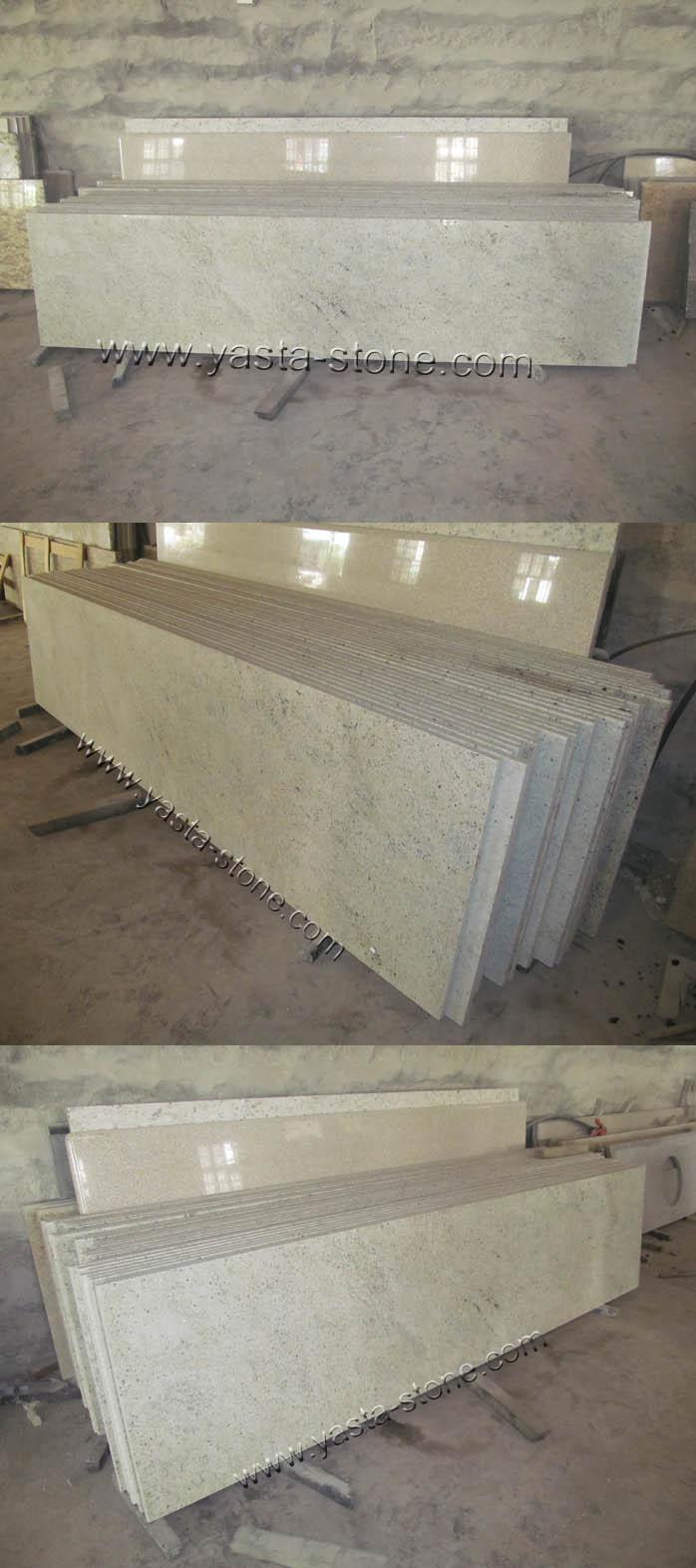 Pencil Edges Countertops Kashmir White Granite Countertops