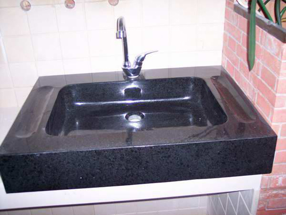 Black Granite Sink : Black granite,Absolute black,tiles,slabs,countertops,vanity tops.
