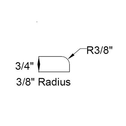 3 8 Inches Radius Top Edges For Countertop Vanity Top