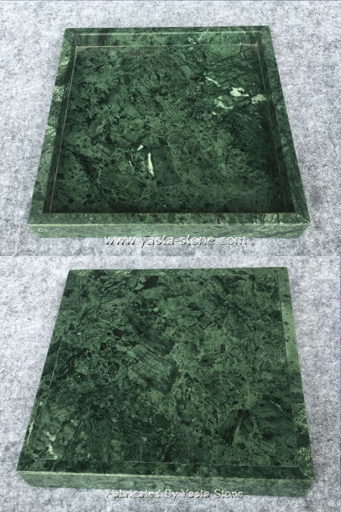 India Dark Green Marble Tray