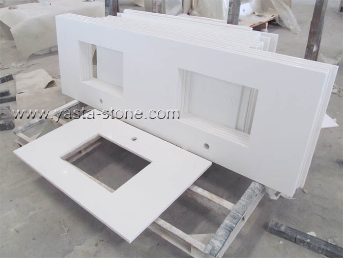 Vanity Top Double Sink. Square Sinks Vanity Tops China White Quartz Bathroom