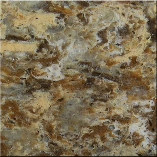 Cloudy Yellow Quartz Stone Countertops Slab Tiles Vanity