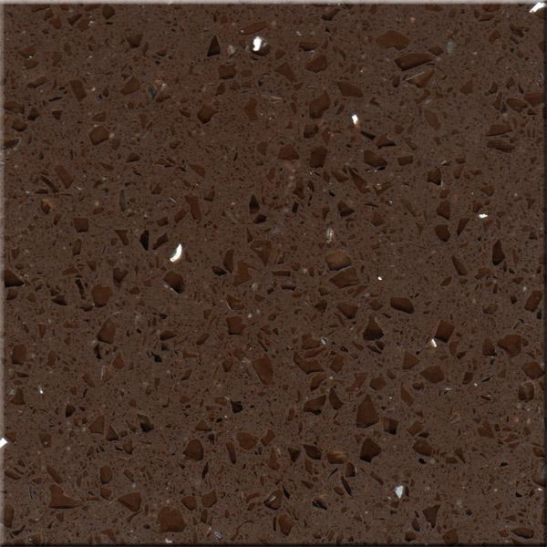 Dark Crystal Brown Quartz Stone Artifical Quartz