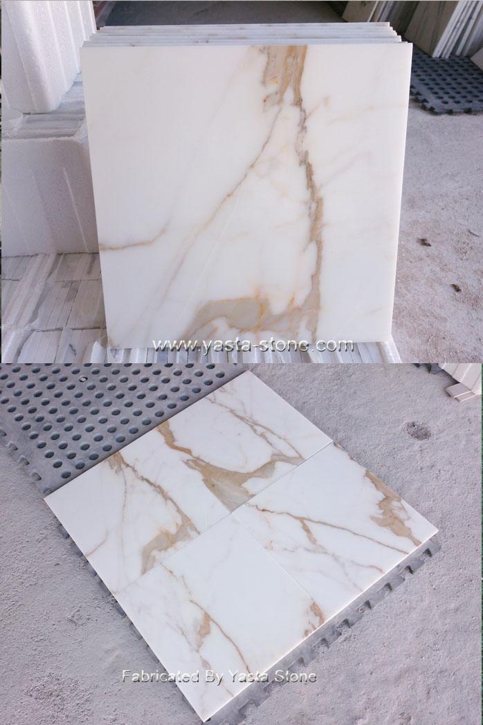 Top Grade Calacatta Gold White Marble Tiles
