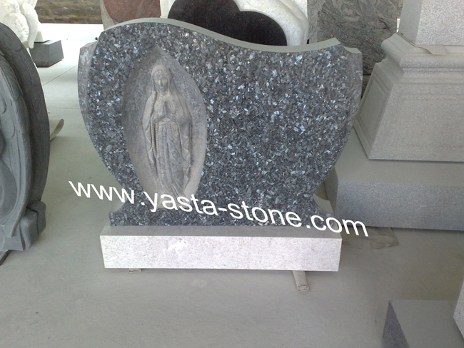 Headstone Granite Headstone Blue Pearl Headstone